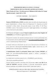 Prescrizioni di gara - Soprintendenza archeologica di Roma