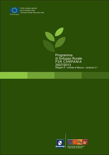 schede di Misura - Regione Campania - Assessorato Agricoltura