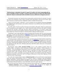 DARIO CROSETTO Email: Crosetto@att - Crosetto Foundation