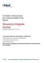 fascicolo informativo barche da diporto edizione 1/10/2011 - Unipol ...