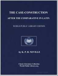 the case-construction after the comparative in latin - World eBook ...