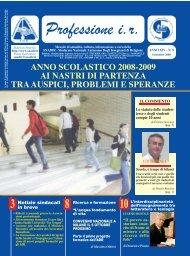 Stampa Copia di Prof. IR Settembre 2008.qxd - Sindacato Nazionale ...