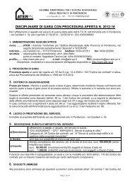 2012-16-Bando gara pulizie - Ater Pordenone
