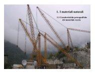 1. I materiali naturali