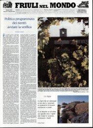 Politica programmata dei rientri: avviare la verifica - Ente Friuli nel ...