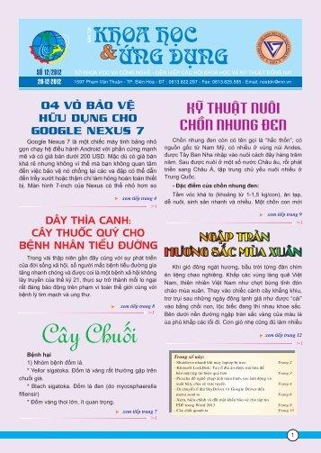SOÁ 12/2012 - Sở khoa học công nghệ Đồng Nai