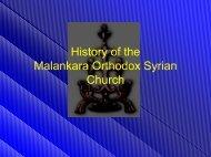 History of the Malankara Orthodox Syrian Church - street theologian