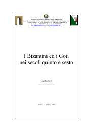 I Bizantini ed i Goti nei secoli quinto e sesto
