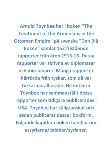 Arnold Toynbee har i boken - ACSA TV – Assyrian Chaldean Syriac ...
