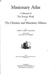 Missionary Atlas, 1936 edition - Christian and Missionary Alliance