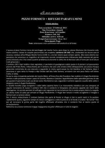 Pizzo Formico rif. Parafulmine - Rossi Roberto.biz
