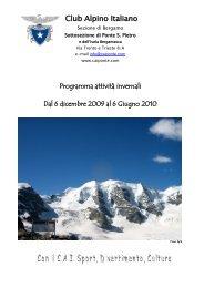 Programma inverno 2004-2005 - CAI Sezione di Ponte San Pietro