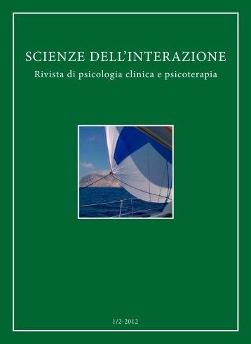 Scienze dell'Interazione anno 2012 n.1-2 - Scuola di ...