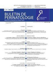 Buletin de Perinatologie 1_2009 - Baza de date a revistelor ştiinţifice