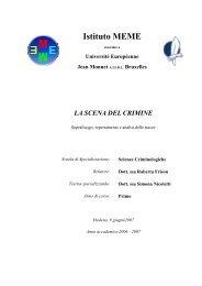 La scena del crimine: sopraluogo, repertamento ... - Istituto Meme S.r.l.