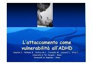 L'attaccamento come vulnerabilità all'ADHD - Aidai