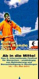 Kultur vom Rande 2011 Programmheft