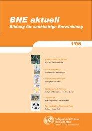 BNE I-06 - Bildung für nachhaltige Entwicklung Rheinland-Pfalz