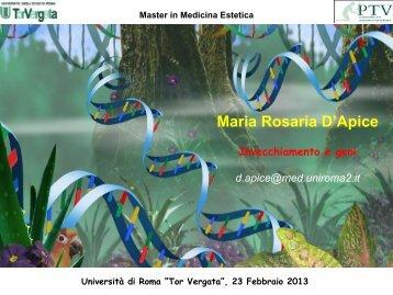 Age - Medicina Estetica Università di Roma Tor Vergata