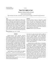 10.Ergen Ruh Sağlığı ve Spor - Kocatepe Tıp Dergisi - Afyon ...