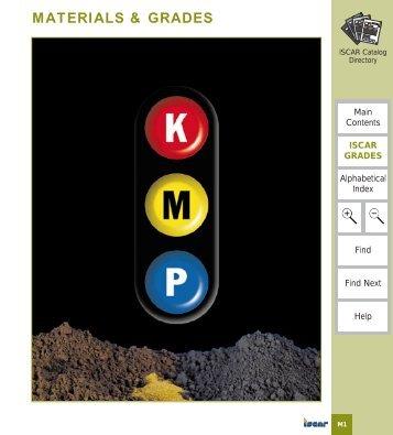 Materials & Grades - Tooling Solutions