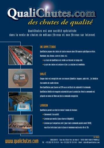 Pour télécharger la liste de nos produits (pdf) - QualiAcier.fr