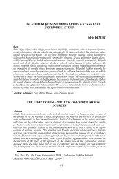İslam Hukukunun Hidrokarbon Kaynakları Üzerindeki Etkileri