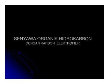 SENYAWA ORGANIK HIDROKARBON