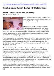 Pembakaran Rumah Ketua PP Batang Kuis Pelaku Dibayar Rp 300 ...