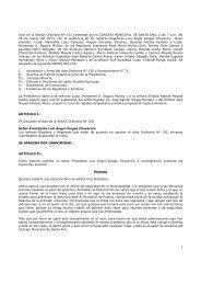 Acta ordinaria N° 151 - Municipalidad de Santa Ana