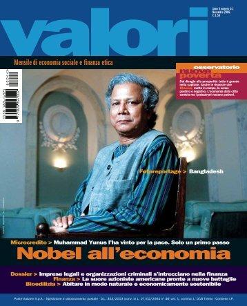 Nobel all'economia - Valori