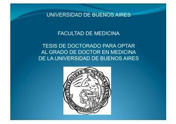 universidad de buenos aires facultad de medicina tesis de ...
