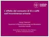 L´effetto di tè e caffé sull´incontinenza urinaria