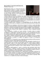 Basi genetiche molecolari della talassemia - Associazione ...