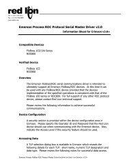 Emerson FloBoss ROC Protocol Serial Master ... - Red Lion Controls