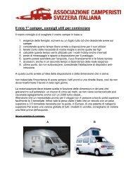 Il mio primo camper - Associazione camper Svizzera italiana