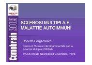 SCLEROSI MULTIPLA E MALATTIE AUTOIMMUNI - Comobrain