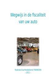 Wegwijs in de fiscaliteit van uw auto - 2011 - FOD Financiën
