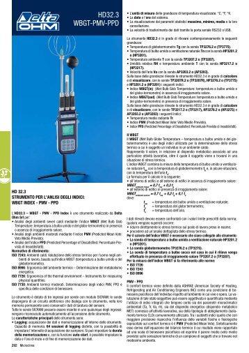 Scarica la Brochure del Delta Ohm HD 32.3 - Extratech