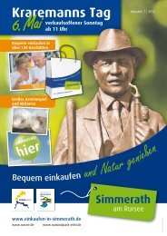 Kraremanns Tag - Gewerbeverein Simmerath e.V.