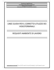 linee guida per il corretto utilizzo dei videoterminali requisiti ...