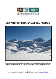 rimo rapporto sull'attività di monitoraggio del microclima ... - Arpav