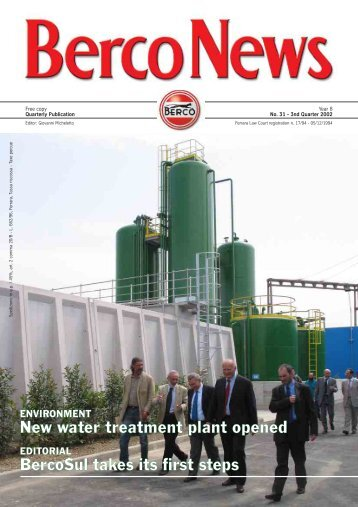 New water treatment plant opened BercoSul takes its ... - Berco S.p.A