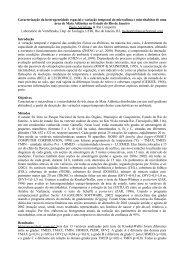 Caracterização da heterogeneidade espacial e variação temporal ...