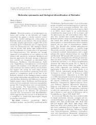 Molecular systematics and biological diversification of ... - Mycologia