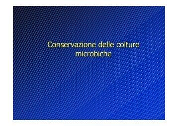 conservazione colture microbiche - AgrariaFree