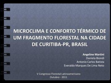 microclima e conforto térmico de um fragmento florestal na cidade ...