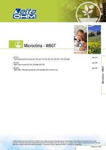 Microclima - WBGT - Delta Ohm S.r.l.