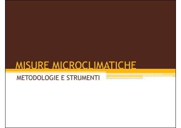 MISURE MICROCLIMATICHE