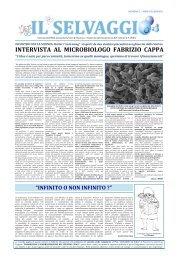"""INTERVISTA AL MICROBIOLOGO FABRIZIO CAPPA """"L'idea è nata ..."""